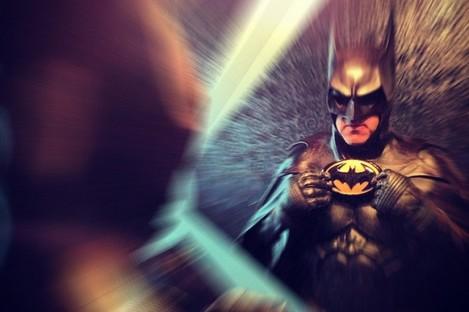Robinson in his Dark Knight costume.