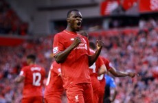 Christian Benteke has just opened his Liverpool account in front of the Kop