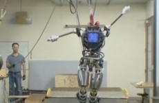 WATCH: A terrifying humanoid robot strolling through the woods