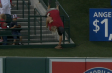 Baseball fan made a stunning play for the world's worst dad award last night