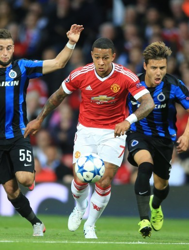 Memphis has scored twice for Man Utd in an impressive first half at Old Trafford