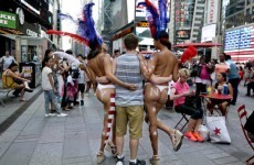 Topless women in Times Square are 'breaking the law'