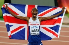 Farah recovers from last-lap stumble to claim record sixth consecutive 10,000m world title