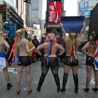 Women set to parade topless through New York