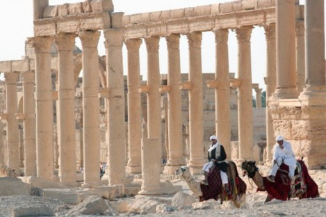 The ancient Palmyra temple