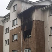 Five-year-old boy and two adults hospitalised after fire at Dublin apartments