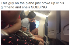 A woman sat next to a couple breaking up on a plane and live-tweeted everything
