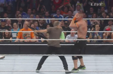 Jon Stewart is having the best craic beating up WWE stars in his retirement