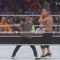 Jon Stewart is having the best craic beating up WWE stars in his retirement