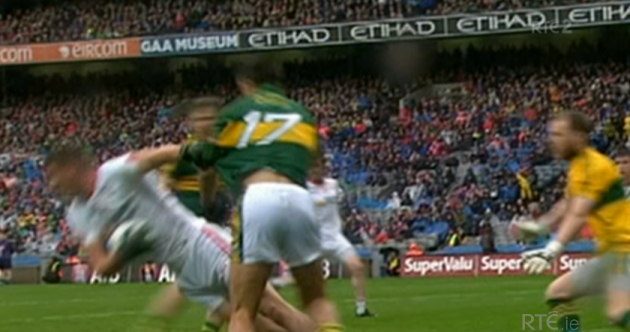 Is this the definitive angle on that Tyrone penalty 'dive'?