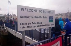 A Gaelic grammar blunder means this sign reads 'Welcome to Penis Island'
