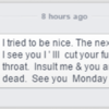'I'll cut your f***in throat': AAA councillor says death threat was a moment of madness