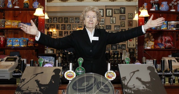 90-year-old Maureen Grant has been manning the bar in the Olympia for 66 years