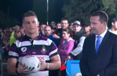 An Irish emigrant had one kick to win $10,000 on an Australian rugby show last week