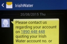 Irish Water has sent texts to customers, but says it's totally normal