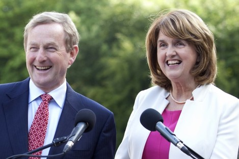 Enda Kenny and Joan Burton will be happy with the latest numbers