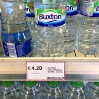 Tesco Ireland has apologised after a photo of expensive water went viral