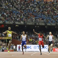 Bolt obliterates Gatlin and the rest of the field to pick up fourth straight 200m world title