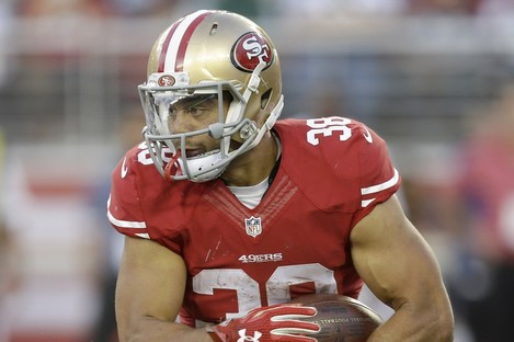 Jarryd Hayne of the San Francisco 49ers has swapped rugby league for American football.