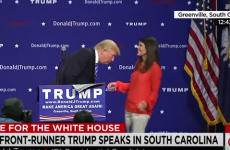 Donald Trump invites woman on stage to check his hair is real