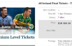 Last-minute All Ireland tickets selling for hundreds online