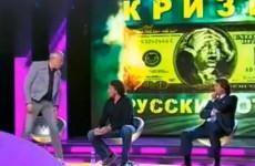 Watch: Russian billionaire attacks opponent on TV