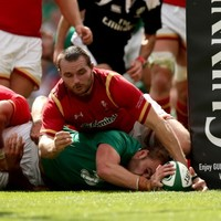 Iain Henderson steamrolled four Welsh defenders to draw Ireland level