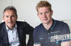 Manchester City have splashed out €71m on former Chelsea playmaker Kevin de Bruyne