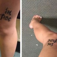 This girl's tattoo contains a powerful message about mental health