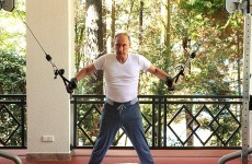 Putin hits the gym, brings along a professional photographer