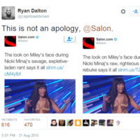 Salon got itself into hot water for calling Nicki Minaj's VMA speech 'savage'