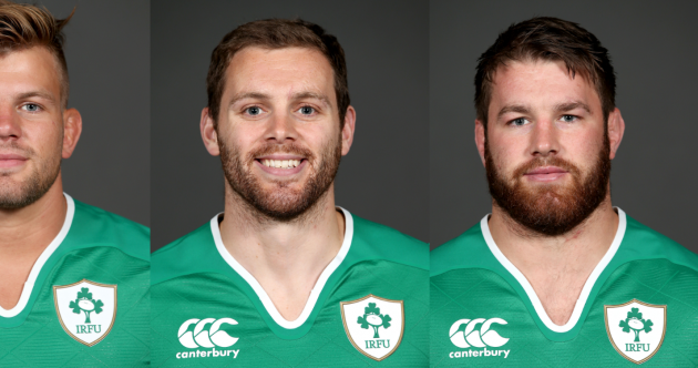 Darren Cave looks like the world's happiest centre in Ireland's squad mugshots