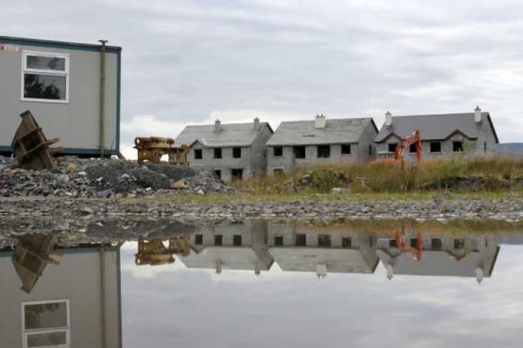 Ghost housing estate, The Waterways, in Keshcarrigan in Leitrim.