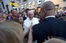 The Pope was mobbed when he went out to buy glasses
