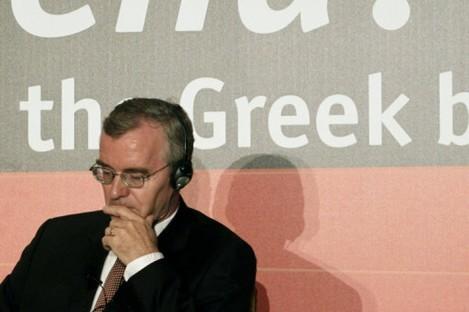 IMF representative Bob Traa in Athens today.