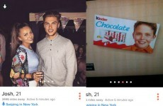 The kid from the Kinder chocolate bars has been spotted on Tinder