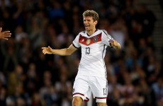 Thomas Muller inspires Germany to victory in Scotland
