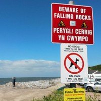 Student 'killed instantly' in rock fall on beach