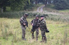 Watch an Irish army unit get ambushed by their enemies (in a drill)