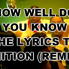 How Well Do You Know The Lyrics To Ignition (Remix)?