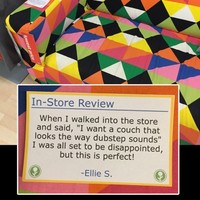 A prankster went around IKEA sticking up fake reviews and they were perfect