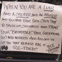 This woman got the best revenge on her Batman-obsessed cheating ex