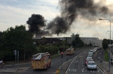 Fire fighters tackling large blaze reported in Stillorgan
