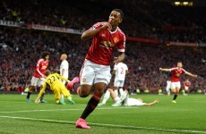 Anthony Martial marks Man United debut with stunning goal in win over Liverpool