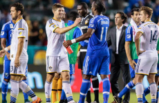 It was the hugely anticipated clash between Gerrard and Drogba in MLS last night