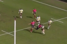 Toulon conceded a penalty try for this vicious high tackle yesterday