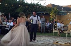 The internet is obsessed with this couple's ridiculous wedding dance