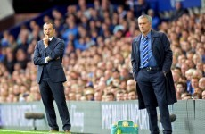 Jose Mourinho reportedly swore at Roberto Martinez because he needed to catch a bus