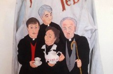 An Irish girl handpainted a Father Ted jacket... and it's amazing