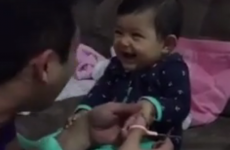 This tiny baby is going viral on Facebook for expertly pranking her poor dad